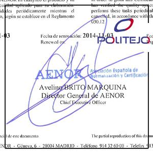 AENOR-PVCENISO1452W